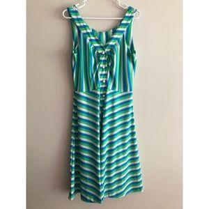Vintage Striped Mod Dress